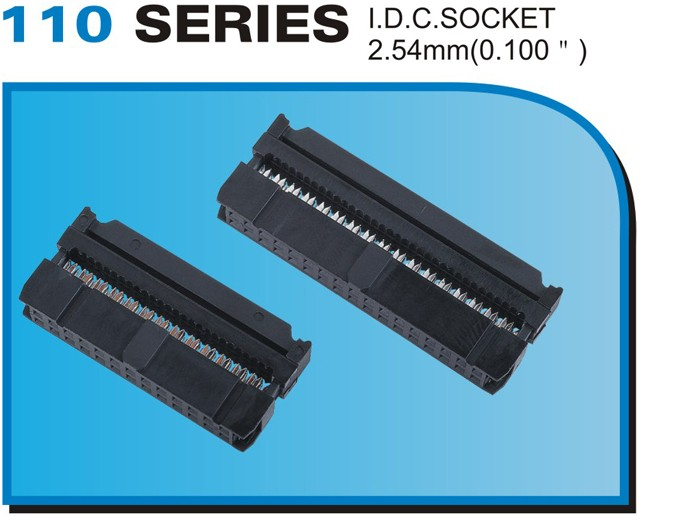 "110 SERIES I.D.C.SOCKET 2.54mm(0.100"")"