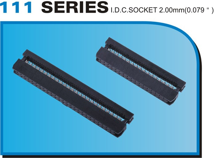 "111 SERIES I.D.C.SOCKET 2.00mm(0.079"")"