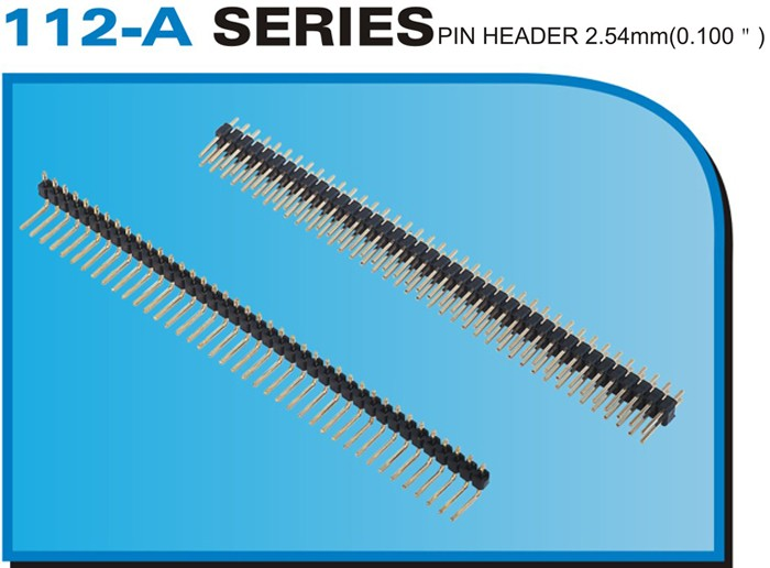 "112-A SERIES PIN HEADER 2.54mm(0.100"")"