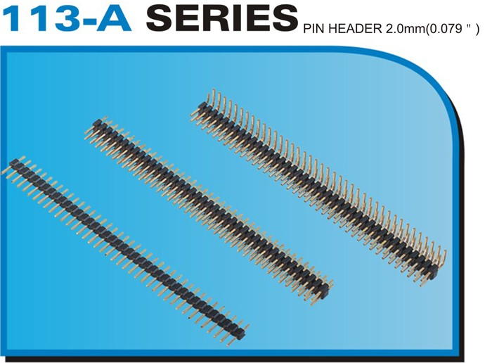 "113-A SERIES PIN HEADER 2.0mm(0.079"")"