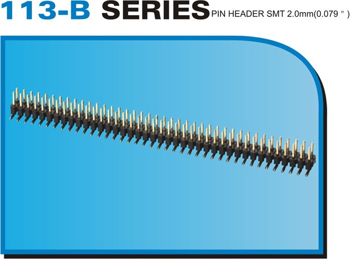 "113-B SERIES PIN HEADER SMT 2.0mm(0.079"")"
