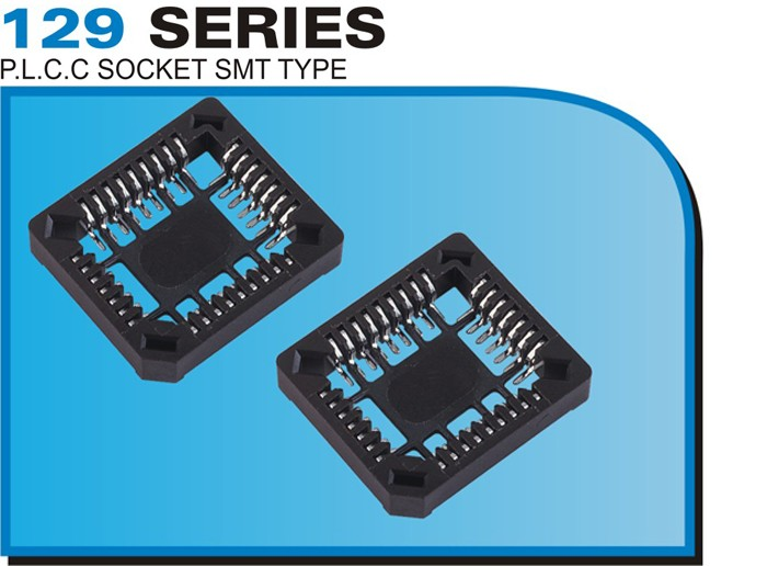 129 SERIES P.L.C.C SOCKET SMT TYPE