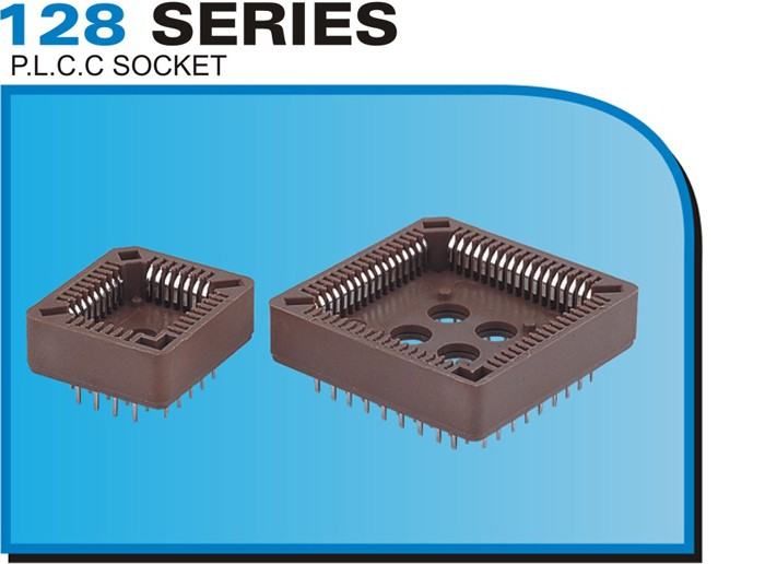 128 SERIES P.L.C.C SOCKET