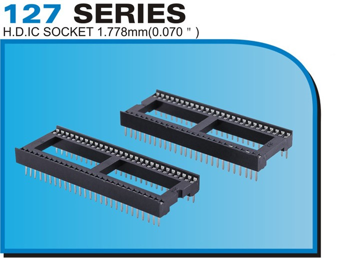 "127 SERIES H.D.IC SOCKET 1.778mm(0.070"")"