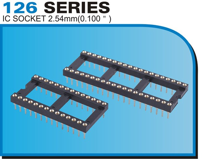 "126 SERIES IC SOCKET 2.54mm(0.100"")"