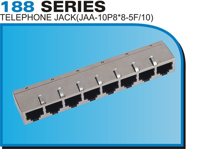 188 SERIES TELEPHONE JACK(JAA-10P8*8-5F/10)