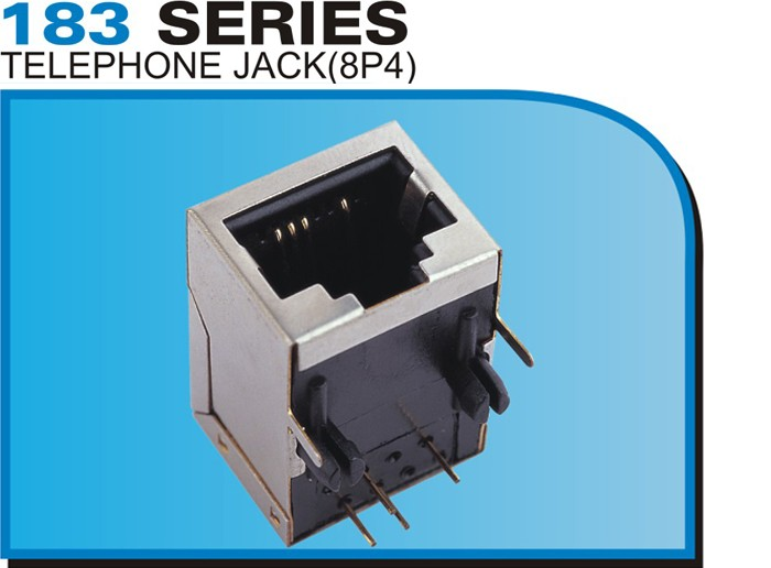 183 SERIES TELEPHONE JACK(8P4)