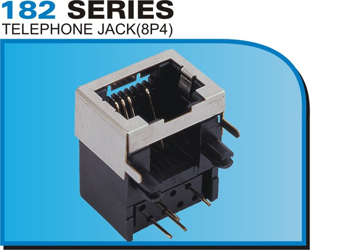 182 SERIES TELEPHONE JACK(8P4)